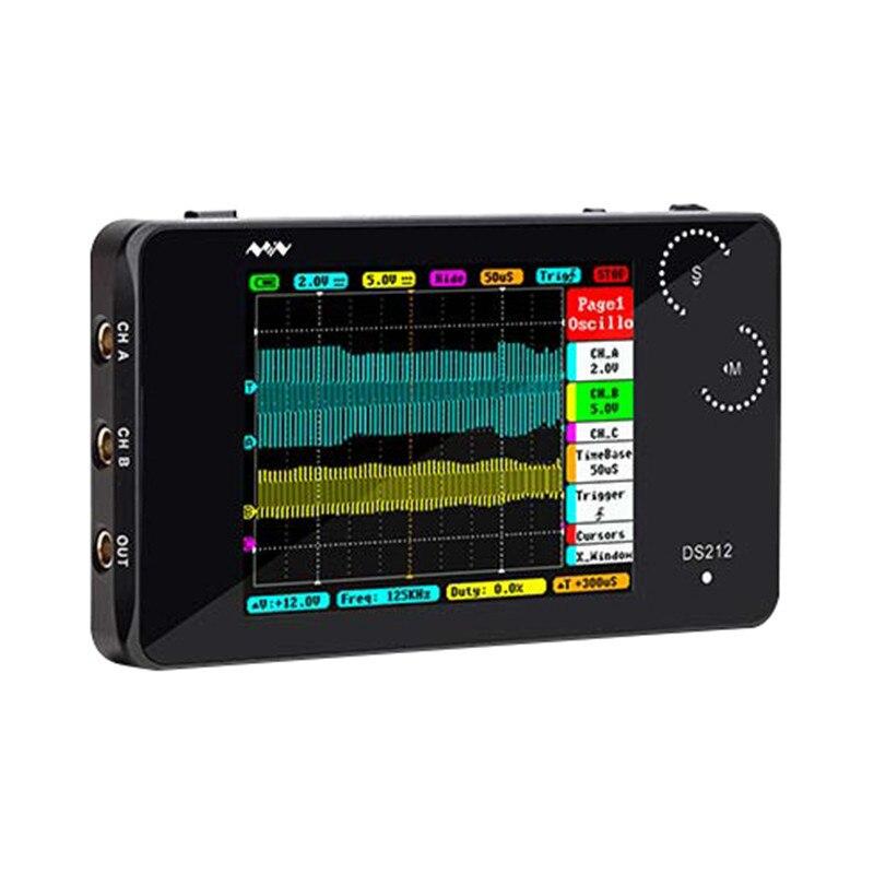 Mini Format De Poche DS212 Digital Storage Oscilloscope Portable Nano De Poche Bande Passante 1 mhz Taux D'échantillonnage 10MSa/s Molette