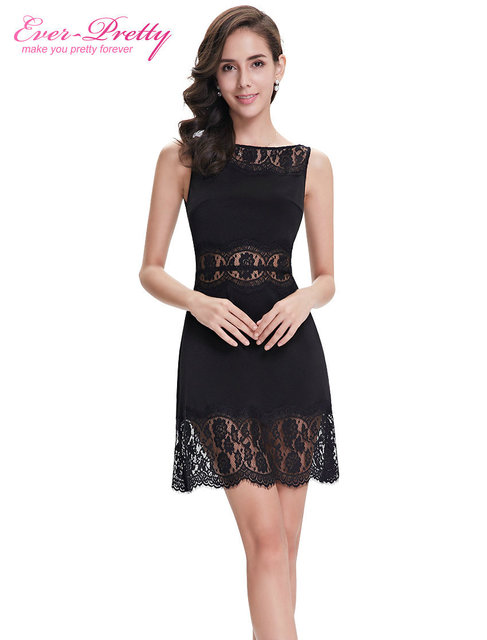 Casual Dresses HE05280BK Ever Pretty 2015 New Arrival Elegant Round Neck  Short Summer Dress Fashion Casual 65ed2960972a