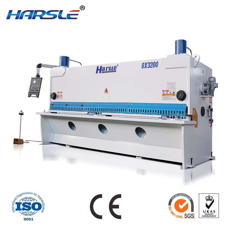 CNC guillotine sheet metal shearing machine with E21S system