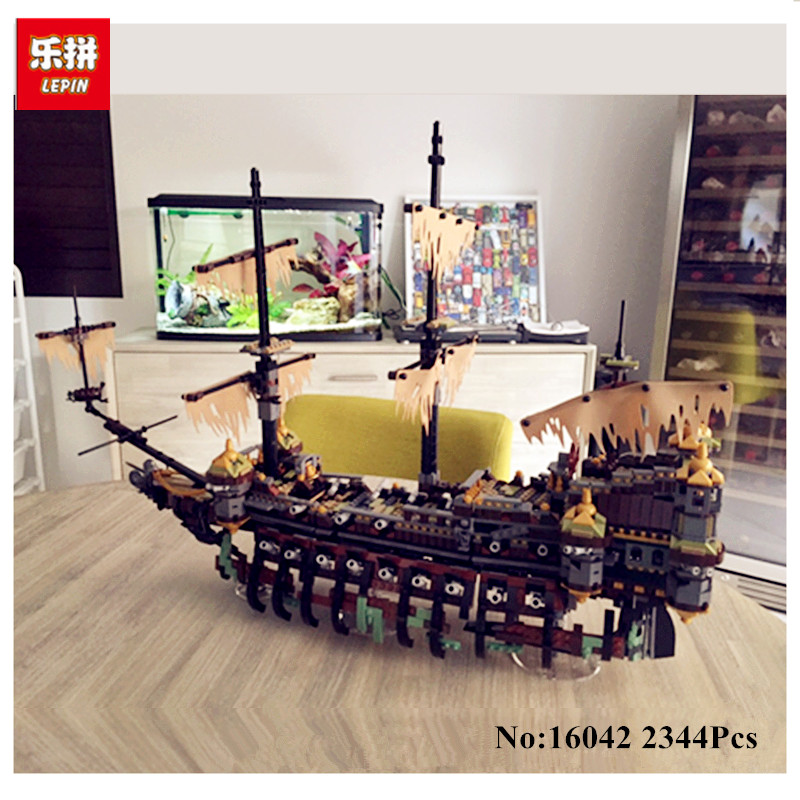 IN STOCK LEPIN 16042 2344Pcs New Pirate Ship Series The Slient Mary Set Educational Building Blocks Bricks Toys Model 71042 lepin 16042 pirates of the caribbean ship series the slient mary set children building blocks bricks toys model gift 71042