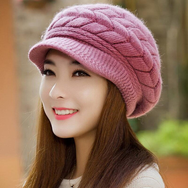 BING YUAN HAO XUAN Knitted Hat Women Winter Hats for Women Ladies Beanie  Girls Skullies CAPS b7d83571683
