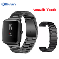 NEW Stainless Steel Metal Strap For Xiaomi Huami Amazfit Smart Watch Youth Edition Bip BIT PACE