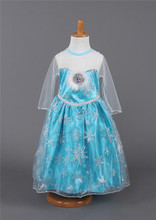 New 2015 hot sale child s baby kids Girl s Princess Queen Elsa Anna Cosplay Costume