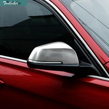 Tonlinker 2PCS Car Styling ABS Matt Door Reverse Outside Mirrors Car Cover Case stickers for Bmw 2014-16 X3 X4 X5 X6 Accessories