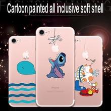 For iphone6 7 8 X XR XMAX mobile phone shell painted TPU transparent soft shell cartoon cute pets Meng Meng anti-fall цена и фото