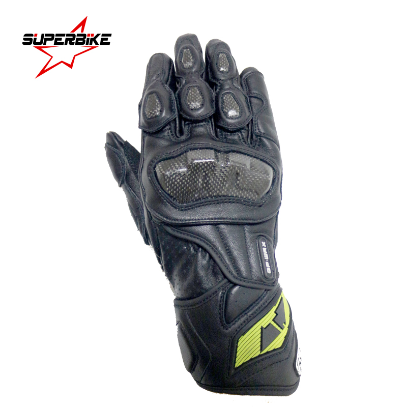 Motorcycle Gloves Men GP PRO Carbon Fiber Moto Glove Genuine Leather Cycling Racing Equipment Motocross SUPERBIKE