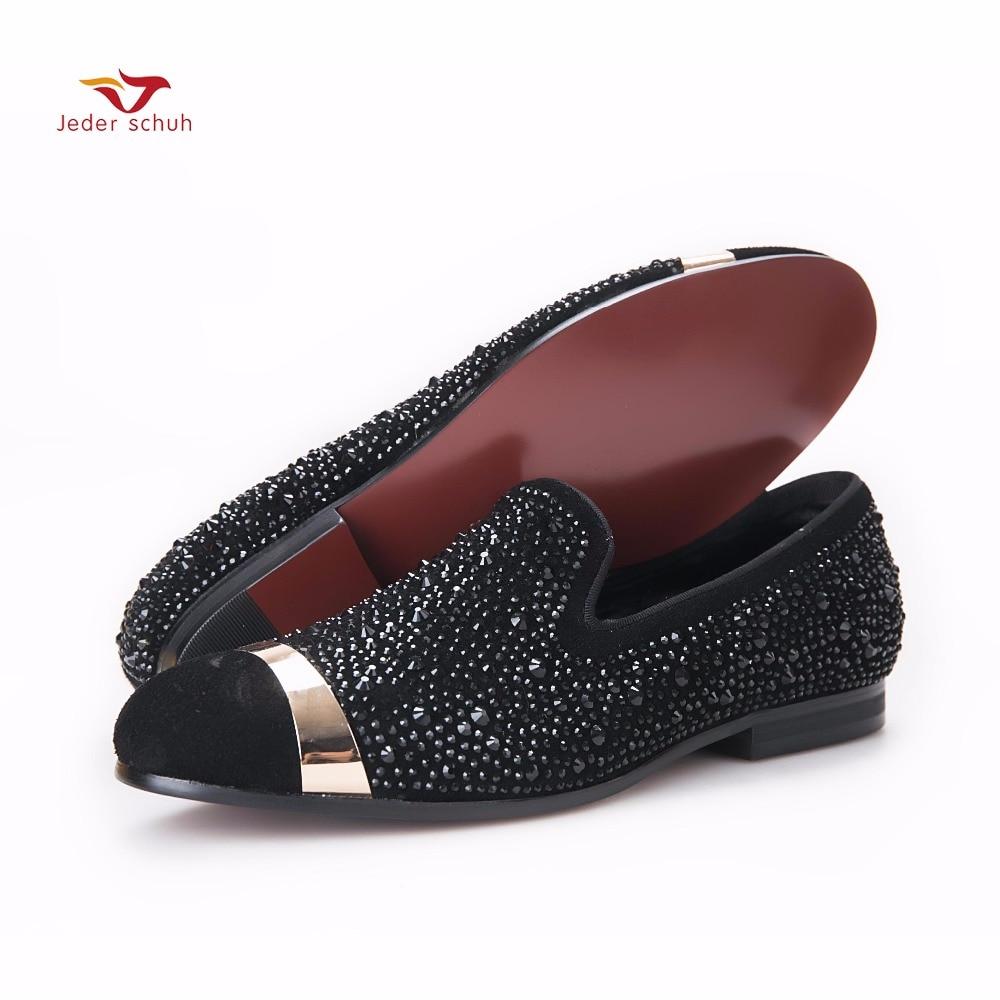 Metalne kopče dizajn dijamant cipele muške vjenčanja cipele luksuzne svile Unutar stanova muškarci modne vožnje cipele