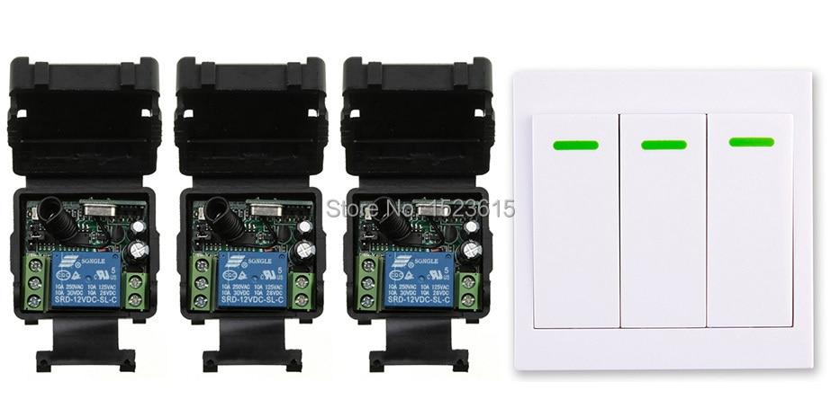 все цены на  New digital Remote Control Switch DC12V 3* Receiver Wall Transmitter Wireless Power Switch 315MHZ Radio Controlled Switch Relay  онлайн
