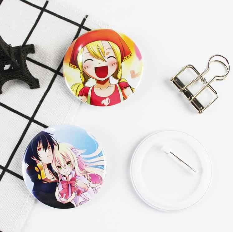 1 adet Sıcak satış Karikatür Anime Peri Kuyruk cosplay Rozetleri moda Simgeleri Sırt Çantası Pin Broş Rozeti figürü oyuncak hediye