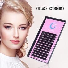 GJLash 12 Lines 9-15mm Individual Eyelash Extension J/B/C/D Lashes Handmade  3D Russia