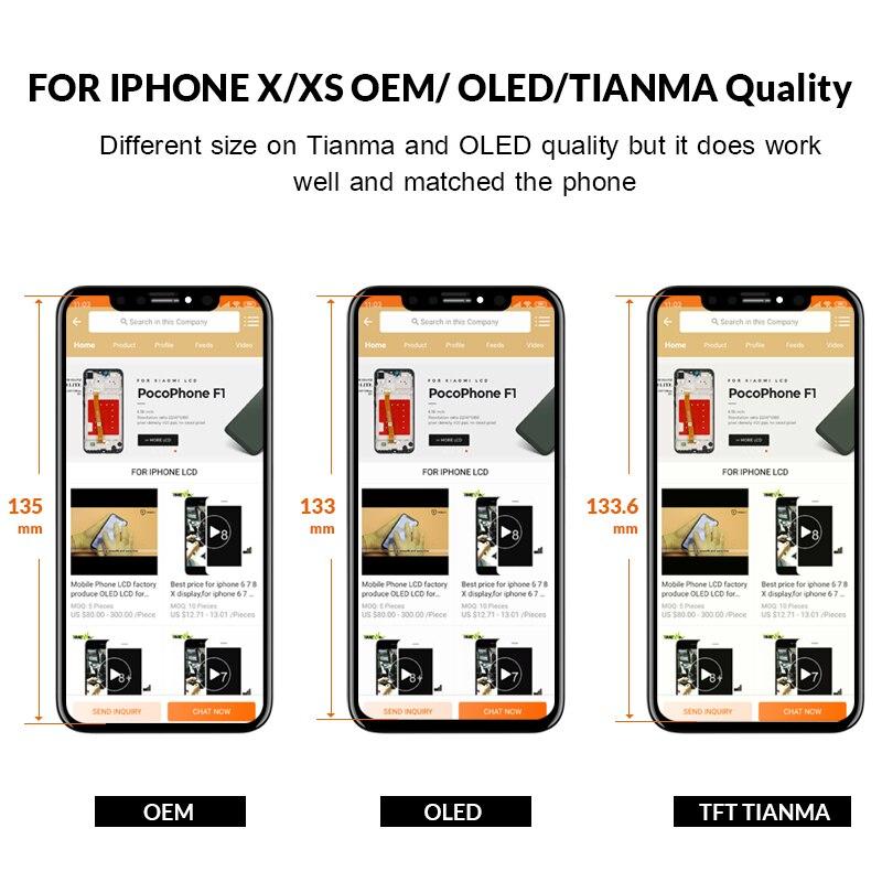 1PC Version améliorée nouveau OLED qualité écran LCD pour iPhone X LCD affichage numériseur assemblage Replecment - 2