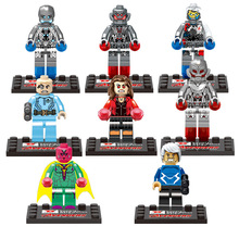 8pcs  The Avengers Age of Ultron Super Hero Minifigures building blocks sets brick baby toys Classic Toys For Children