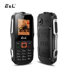 E & L K6900 IP68 телефона 2 г GSM разблокирована Dual SIM карты громкий Динамик клавиатура мобильного телефона Водонепроницаемый противоударный 2000 мАч fm Радио