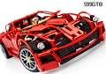 Técnica Súper Coche 599 GTB racing car series 1:10 Building Block 1322 unids Educación de BRICOLAJE juguetes para niños