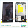 for Sony Xperia C Dual S39h C2304 C2305 LCD screen display with touch screen digitizer frame bracket assembly,black or white