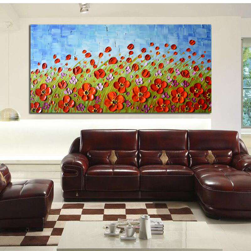 42af5bf2f0f 100% pintados a mano pura pintura al óleo abstracta en la lona Cuadros  decorativos decoración del hogar del regalo del arte