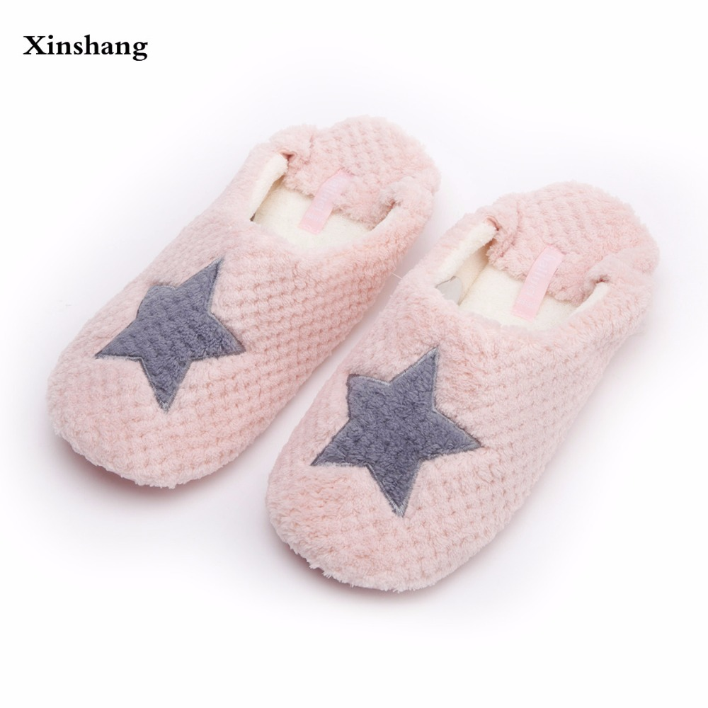 52e4858185b9d Women Home Slippers Warm Winter Cute Indoor House Shoes Bedroom Room For Guests  Adults Girls Ladies Pink Soft Bottom Flats
