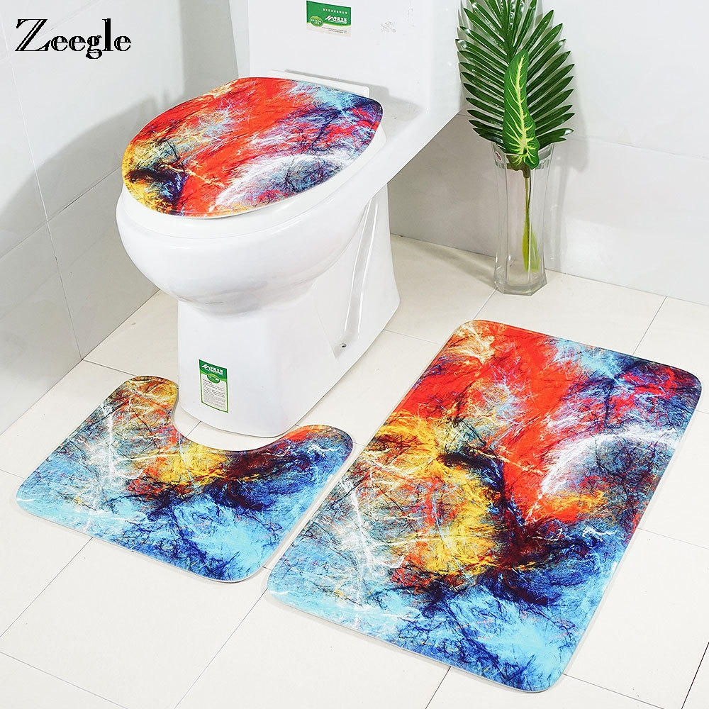 Zeegle Nordic Toilet Mat Bathroom Floor Mats Soft Bathroom