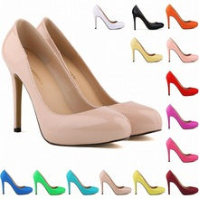 Classic Thin High Heel Pointed Toe Patent Leather Women Pumps Ladies Work Wedding Party Dance Court Shoes Sapatos Femininos