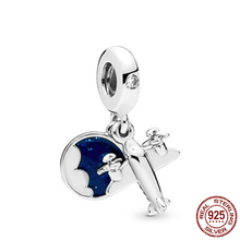 925 Sterling Silver Beads Propeller Plane Pendant Charms fit Original Pandora Bracelets Women DIY Jewelry