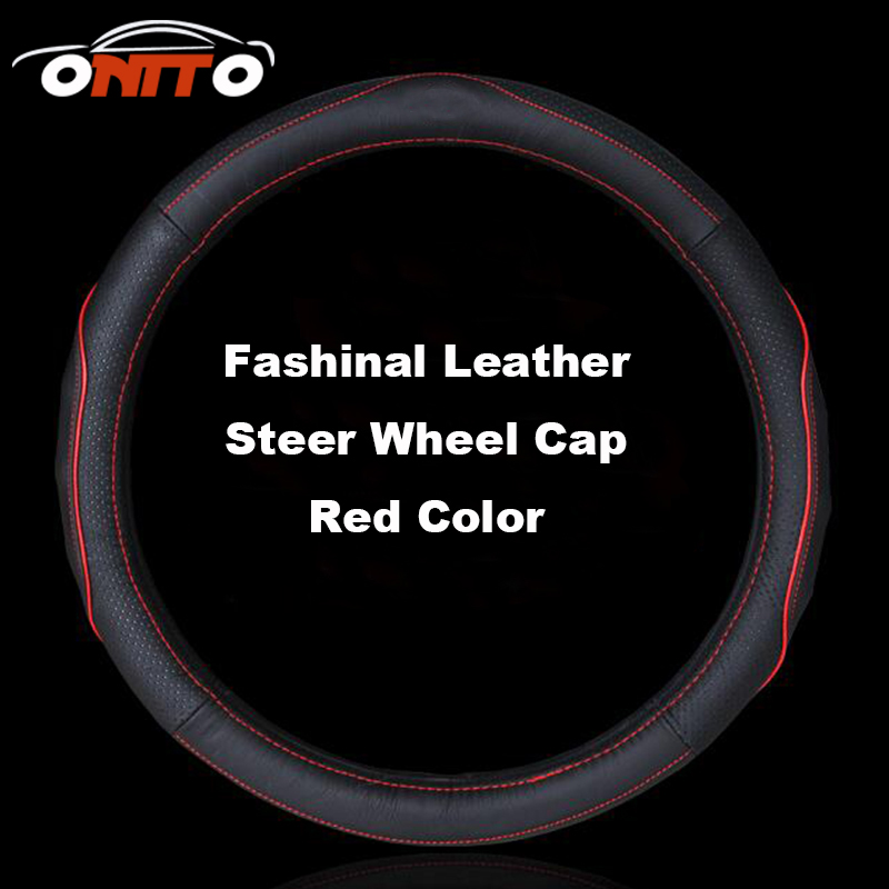 2017 NEW 15 38CM Leather Car Steering Wheel Protective Cover Auto Steer Wheel Cover 207/301/308/309/408/508/807/2008/3008/4007