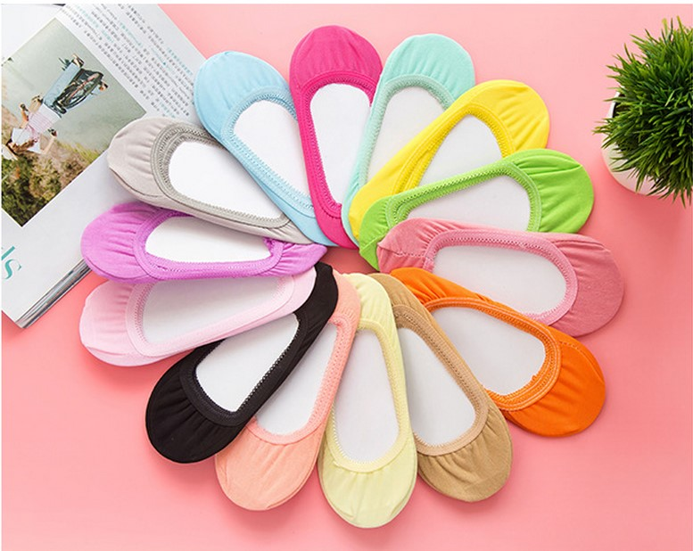 15 color Warm comfortable cotton girl women's socks ankle low female invisible color girl boy hosiery 1pair=2pcs