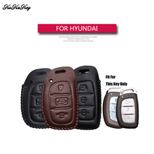 KUKAKEY Genuine Leather Remote Keyless Car Key Case Cover For Hyundai I30 IX35 HB20 Solaris Rucson Accent SANTA FE 4S Shop Gift