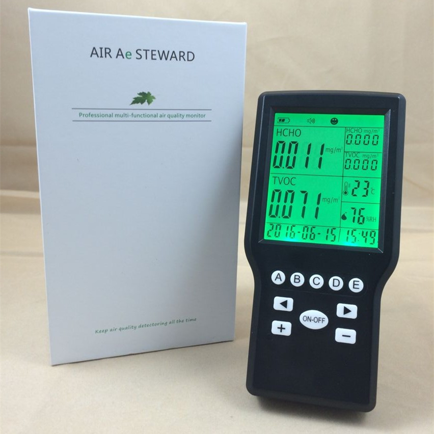 air pollution formaldehyde air quality sensor TVOC air sound alarm air quality sensor temperature rh humidity tvoc formaldehyde monitor meter air pollution masks free shipping