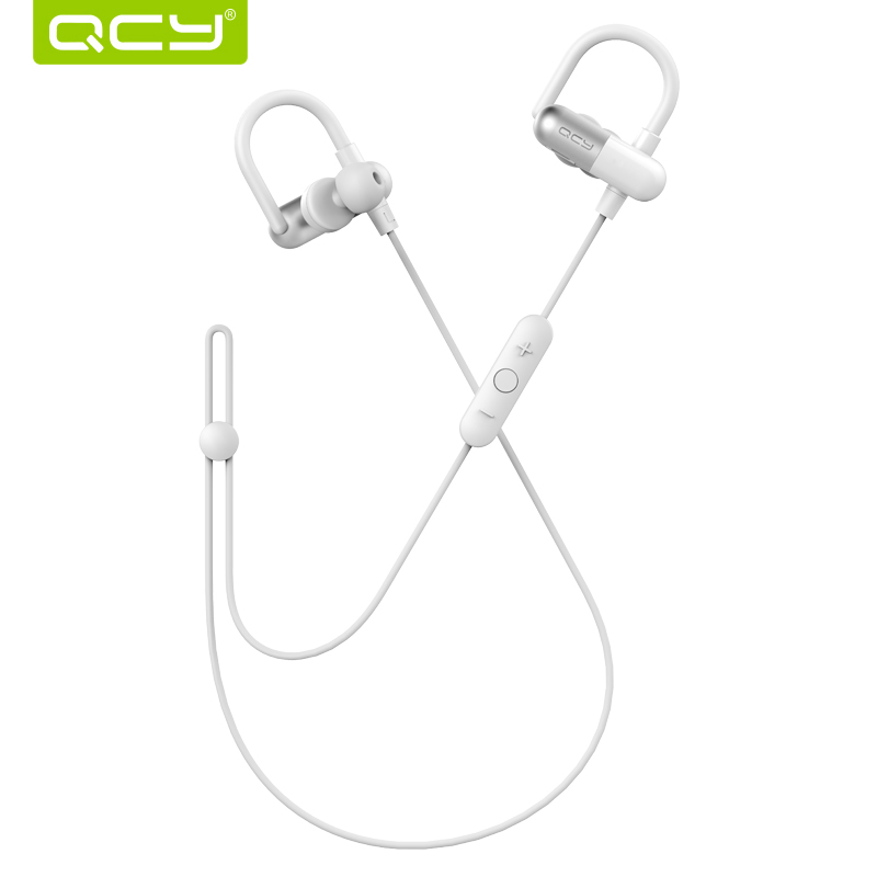 qcy qy11 limited edition off white ear hook sports headphones bluetooth 4 1 wireless headsets 3d. Black Bedroom Furniture Sets. Home Design Ideas