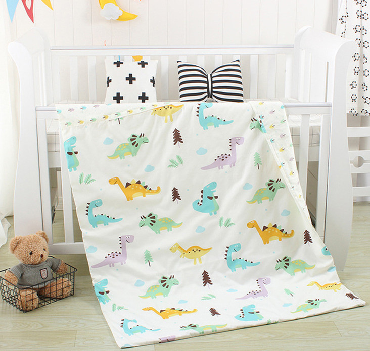 With Filling Baby Crib Cot Bedding Set Quilt Cover Sheet Baby Bed Bedclothes Duvet Sheet Pillow