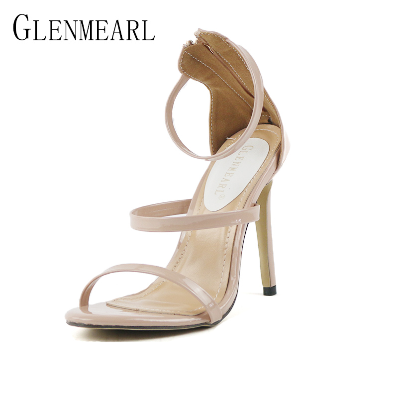 2018 Summer Sexy High-heels Women Sandals Plus Size Rome Open-toed Female Sandals Thin High Heels Shoes Pumps Party Shoes  40