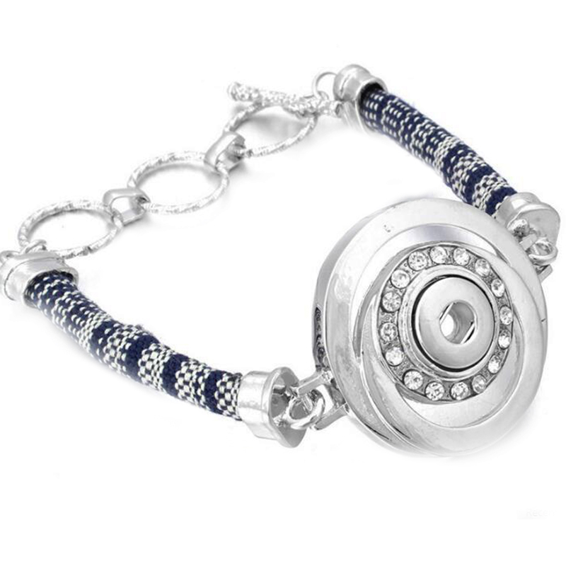 New Snap Bracelet Fit 12mm Round Snap Button Jewelry DIY Crystal Metal Bracelets For Women Wholesale image