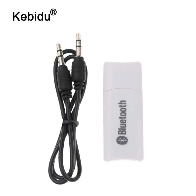 Kebidu Baru 3.5 Mm USB Nirkabel Bluetooth Receiver AUX Bluetooth Transmitter Konektor Adaptor Dongle Audio Rumah Speaker Reseptor