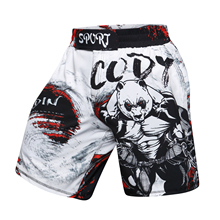 Brand New Men's GYM Pants 3D Printing MMA Shorts Fitness Breathable orangutan Pant Quick Dry shorts men compression shorts