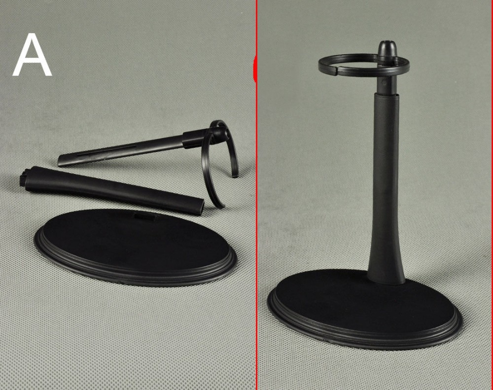 """1//6 Scale C-Type Display Stand Doll Holder fit 12/"""" Action Figures Black"""