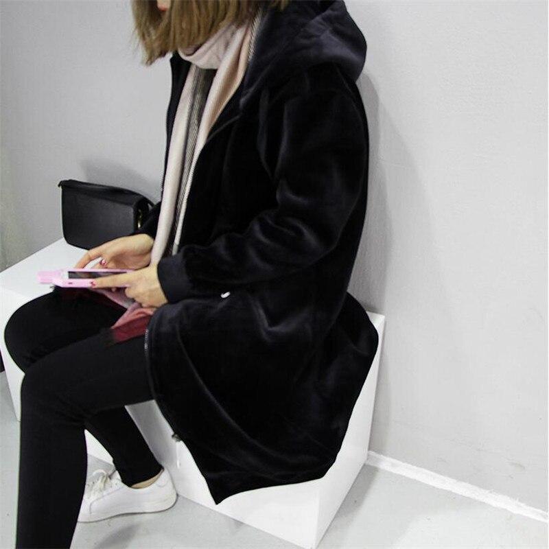 2020 Autumn New Women Thick Warm Hooded Basic Coats jacket Casual Lady Winter Long Fashion 8