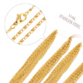 Wholesale Price 45-60cm length, 2mm width, Gold/Silver Stainless Steel Chains Polish Byzantine Chain Necklace Fashion Jewelry
