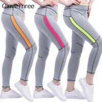 2018 mujeres señora Activewear legging Rosa Primavera Verano gris pantalones otoño alta cintura leggins 1208 American original order