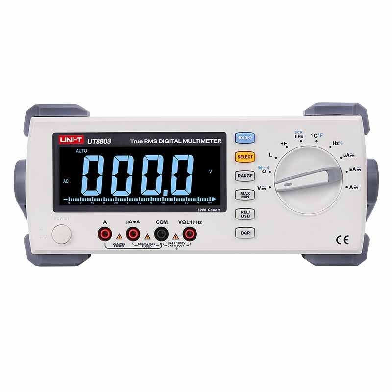UNI T UT8803 Banco multímetro digital de verdadero valor eficaz (RMS EBTN DCV/ACV/DCA/ACA ohmímetro inductancia capacitancia medición de temperatura