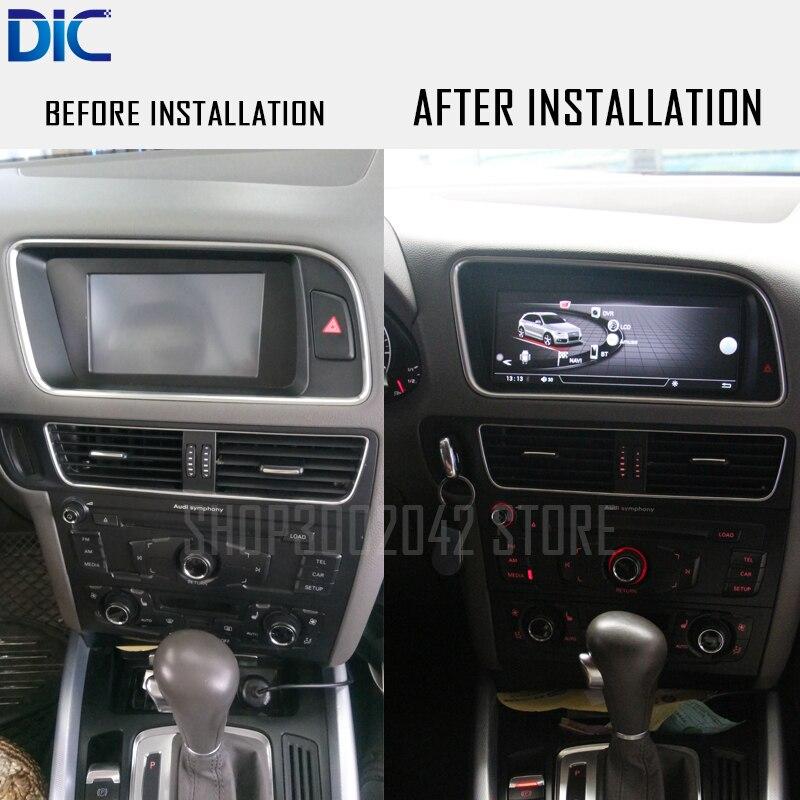 DLC Android système GPS navigation lecteur Main Droite et Main Gauche 8.8 10.25 pouce système WIFI vidéo d'origine Pour Audi Q5 2010-2016