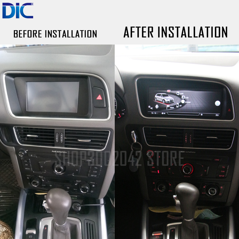 DLC Android system GPS navigation player Right Hand Left Hand 8.8 2G 16G 4G 10.25 inch WIFI video /For Audi Q5 2010-2016