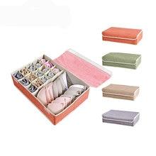 16 ячеек красочные Coverd складной органайзер для нижнего белья шкаф ящик для хранения для носков галстуки бюстгальтер белье