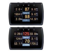 Indicador OBD2 para coche con soporte, medidor de velocidad de conducción, pantalla Digital de temperatura del agua
