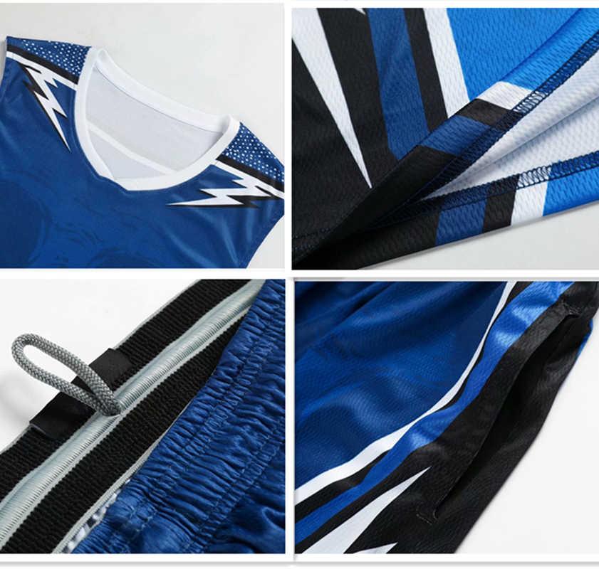 4e44b8c0681 ... ZMSM Men throwback basketball jersey set blank Sport Clothing custom  basketball uniforms training Shirts Pockets Shorts