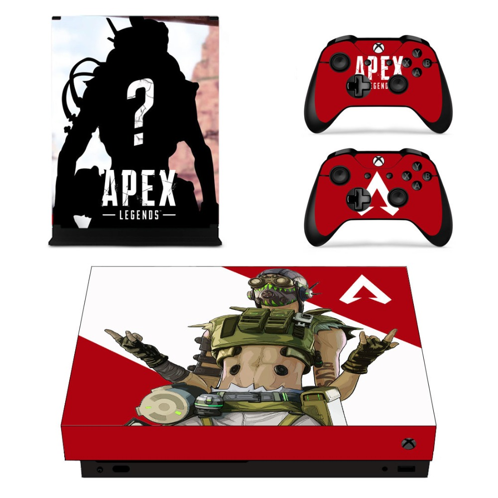 Game APEX Legends Skin Sticker Decal For Microsoft Xbox One X Console and 2 Controller For Xbox One X Skin Sticker Vinyl