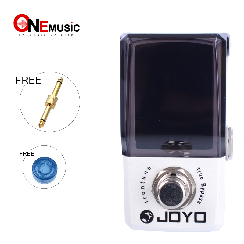 Joyo JF 326 IRONMAN Mini Pedal Irontune High Precision Effect Pedal Tuner with gold pedal connector