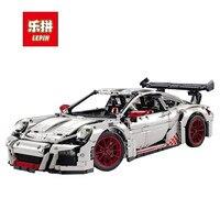 Lepin 20001 20001B Technic Series 2704PCS Orange White Super Race Car Model 42056 Building Kits Blocks
