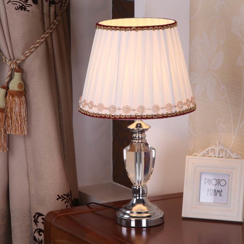 Table Lamp Lamps Shades Shade Desk Nightlights Crystal Bedside Light K9  Clear Crystal Farbic Led Desk Lamparas  In LED Table Lamps From Lights U0026  Lighting On ...