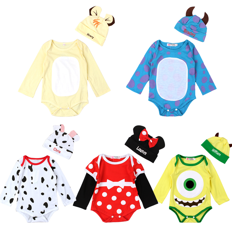Learned Baby Rompers Long Sleeve Cotton Boys Girls Infant Cartoon Animal Minnie Jumpsuit Newborn Baby Clothes Romper+hat Clothing Set Save 50-70%