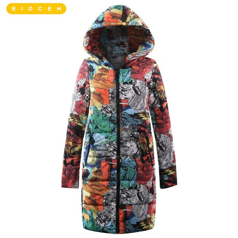 2018 Nuovo di Grandi Dimensioni Cappotti di Spessore Donne Giacca Invernale Con Cappuccio più il formato Imbottiture di Cotone Cappotto Lungo Parka Giacca Femminile Mujer Maxi 6XL